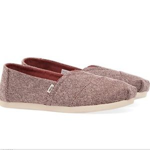 🎈 Womens NWT Toms Shoes Size 8 Alpargata Barn Red